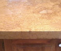 Closeup after decoupaged countertop is dry. Looks like stone. my favorite explanation of the process so far. Kitchen Counters, Kitchen Redo, Kitchen Remodel, Paper Bag Walls, Paper Bags, Home Projects, Home Crafts, Diy Home Decor, Camper Renovation