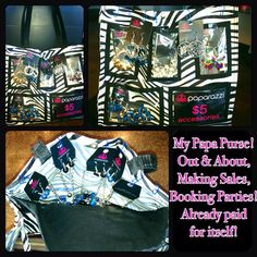 Purse display - and believe me - $5 Paparazzi jewelry sells this way!