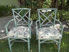 Hollywood Regency pair of Ficks Reed Chinese by MIDMODTROPICAL, $259.00