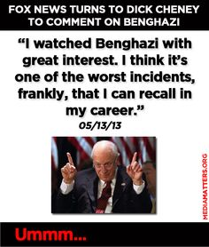 YOU were the worst incident, Cheney.