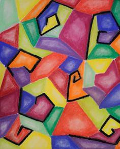 Bright abstract chalk pastel