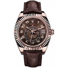 Unworn Men's Rolex Sky-Dweller GMT 18kt Rose Gold On A Strap 326135 Live Pictures Enclosed - Thumbnail 1