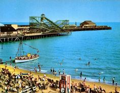 An Old Photo of Clacton-On-Sea Essex England Butlins Holidays, Sea Murals, Essex Girls, British Holidays, Essex England, Holiday Day, British Things, I Remember When, Terrazzo