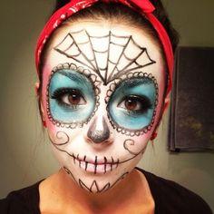easy sugar skull makeup