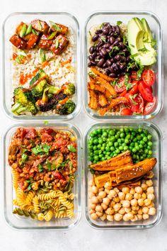Vegetarian Meal Prep, Vegan Meal Plans, Healthy Meal Prep, Healthy Food, Meal Prep For Vegetarians, Vegan Food, Food Food, Best Meal Prep, Meal Prep For The Week