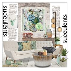 """""""Succulents..."""" by addicted2design ❤ liked on Polyvore"""