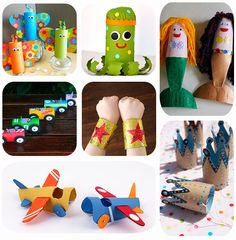Rolls of fun Easy Crafts For Kids, Projects For Kids, Diy For Kids, Diy And Crafts, Craft Projects, Arts And Crafts, Rolled Paper Art, Paper Roll Crafts, Diy Cardboard