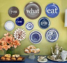 Pratos na parede como decoração
