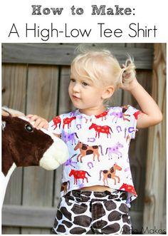 High Low Shirt Mini Tutorial | Alida Makes