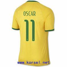 Maillot de foot Bresil Domicile Coupe du monde 2014 (11 Oscar) Jaune Pas Cher http://www.korsel.net/maillot-de-foot-bresil-domicile-coupe-du-monde-2014-11-oscar-jaune-pas-cher-p-3247.html