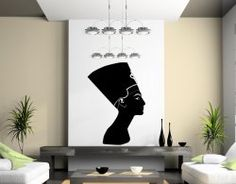 Nefertiti - Egyptian Queen - Amazing Wall Sticker | Wall Stickers World - Your shop with wall stickers, decals, wall decorations, car signs and more... | Product Decal, Decor, Wall Sticker,