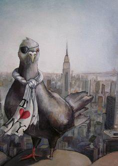 I love New York Pigeon Fine art giclee print on by DarlingRomeo, $98.00