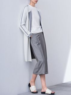Color-block Knitted Cardigan Wool Cardigan, Fashion Online, Normcore, Beige, Casual, Pants, Shopping, Color, Walking