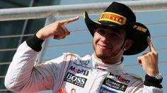 Austin, Texas Grand Prix 2015  race winner Lewis Hamilton (GBR) McLaren celebrates on the podium. Formula One. For more photos and video go to: https://www.formula1.com/content/fom-website/en/championship/races/2015/United_States.html
