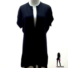 Black Cashmere Short Sleeve Dress/Tunic L New without tag. Stunning 100% Cashmere hi low mini dress or tunic. Low front cut can be punned closed or worn over long sleeve top, cami, tank, etc. Sumptuously soft like only cashmere. Wear with everything! Size large. Neiman Marcus Dresses Mini
