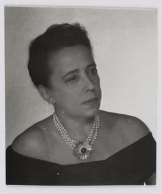 Elsa Schiaparelli, 1938  by Man Ray
