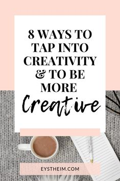 Everyone has the capacity to be creative. It's one of our greatest strengths as humans.   Some people have a greater gift for creativity that others, but you'll never know how creative you can be unless you take steps to maximize it.   Here are eight ways you can be more creative today.  Go read and get creative!