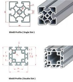 60x60 Industrial Aluminium Profile(Single&Double Slot) Autocad, Metal Extrusion, Homemade Cnc, Solidworks Tutorial, Conveyor System, Isometric Drawing, Diy Cnc, Industrial, Screenprinting
