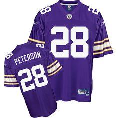 Reebok Minnesota Vikings Adrian Peterson Premier Alternate Jersey Adrian Lewis, Football Run, National Football League, Minnesota Vikings, American Football, Reebok, National Soccer League, Football
