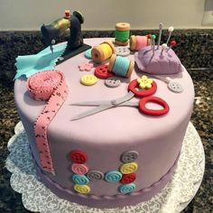 Number Birthday Cakes, 25th Birthday Cakes, Birthday Cake For Mom, Sewing Cake, Cotton Candy Cakes, Diva Cakes, Birtday Cake, Fiesta Cake, Mom Cake