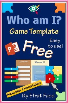 """ Who am I "" is a puzzle game template , designed especially for teachers, helping to reveal a new topic, summarize a theme, engaging students in a fun way. in powerpoint includes animations."