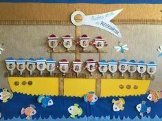 New Door Decorations Classroom Preschool Display Ideas Preschool Displays, Classroom Displays, Preschool Classroom, Classroom Themes, Classroom Decor, Preschool Activities, Orla Infantil, Deco Pirate, Summer Bulletin Boards