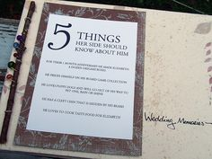 """5 things you should know about the bride and groom"""