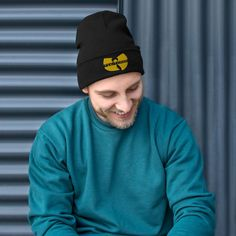 The perfect beanie has arrived! This embroidered beauty has a snug fit that ensures you're going to feel cozy and warm whatever you're doing. Funny Don't Wake The Bear Black & Buffalo Plaid Bear Grey Beanie, Knit Beanie Hat, Beanies, Beanie Outfit, Slouch Hats, Tweed, Drum Major, Gifts For Campers, Man In Love