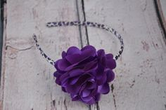 A personal favorite from my Etsy shop https://www.etsy.com/listing/219050974/purple-leopard-satin-mesh-flower