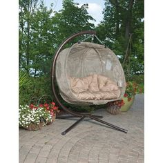 Hanging Chair With Stand, Hanging Egg Chair, Swinging Chair, Hanging Hammock, Patio Lounge Chairs, Cafe Chairs, Dining Chairs, Hammock Chair, Log Homes