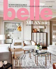 Belle magazine Aug/Sep 13 Interiors Magazine, Interior Design Magazine, Magazine Design, Interior Design Inspiration, Magazine Layouts, Bathroom Interior Design, Decor Interior Design, Design Interiors, Belle Magazine