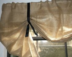 Burlap Valance 36 96 Wide X 14Long 'The by CurtainsByJackieDix