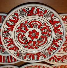 Farfurie ceramica (platou) specific Corund 24 cm