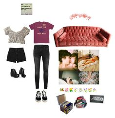 """""""i left my heart in san francisco"""" by flowerofevil ❤ liked on Polyvore featuring Topman, Monki, Retrò, Vans and Laundry"""