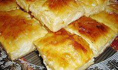 mazedonisches essen Baked pie with feta cheese (substitute dough with gluten-free pie crust dough) Bosnian Recipes, Croatian Recipes, Bosnian Food, Burek Recipe, Dolmades Recipe, Pie Crust Dough, Macedonian Food, Gluten Free Pie Crust, Kolaci I Torte