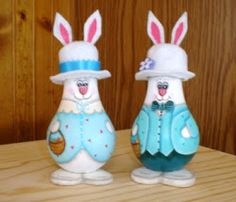 Easter Bunny Painted Light Bulb
