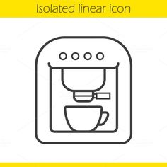 Download Coffee machine linear icon. Vector @creativework247
