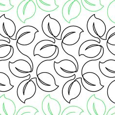 """Lush Leaves - Paper - 10"""" - Quilts Complete - Continuous Line Quilting Patterns"""