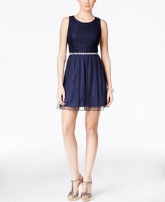 Speechless Juniors' Embellished Party Dress