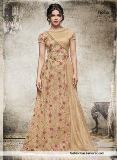 buy Priyanka Chopra Beautiful Beige A-Line Style Anarkali Salwar Suit online, buy Salwar Kameez online,  Salwar Kameez online shopping, Online Anarkali Salwar Suits Shopping India