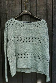 Mere Bred Bluse med smalle ærmer - og et drama forhåbentlig afværget Stitch Patterns, Knitting Patterns, Fabric Yarn, Knitwear Fashion, Crochet Fashion, Knit Crochet, Sweaters For Women, Cable Knit Scarves, Knitting Sweaters