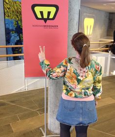 Day 12 - Working a media festival with my favourite bomber jacket. Made from old curtains. #mmmay16 #sewheijude
