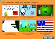 Globaloria, the first and largest social learning network, where students develop digital literacies, STEM knowledge and global citizenship skills through game design. This links to games students have created through the program.