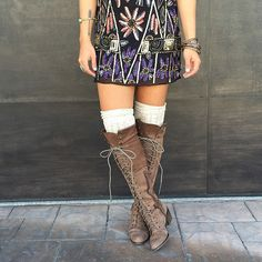 Cute boot and sock combination