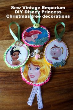 easy DIY disney princess christmas decorations