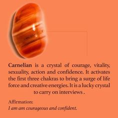 Carnelian crystal meaning and healing energy