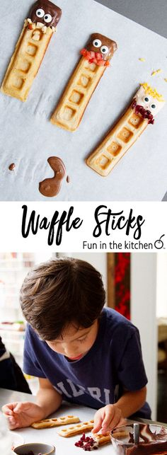 Waffle Dudes (and ladies and kids) to Decorate with your Little Nerds