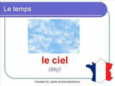 French Lesson 35 - Le temps - Describe Talk about the weather (vocabulary common basic expressions)