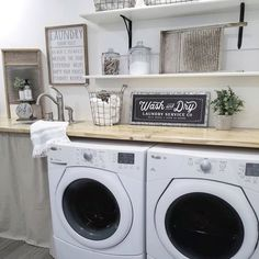 Best 20 Laundry Room Makeovers - Organization and Home Decor Laundry room decor Small laundry room organization Laundry closet ideas Laundry room storage Stackable washer dryer laundry room Small laundry room makeover A Budget Sink Load Clothes Laundry Room Wall Decor, Basement Laundry, Farmhouse Laundry Room, Laundry Closet, Small Laundry Rooms, Laundry Room Organization, Laundry Room Design, Laundry In Bathroom, Small Room Design