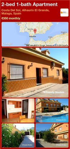 2-bed 1-bath Apartment to Rent in Costa Del Sol, Alhaurin El Grande, Malaga, Spain ►€350